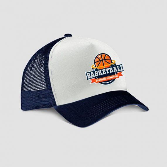 gorra basketball para niños