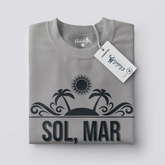Camiseta Sol mar y arena doblada