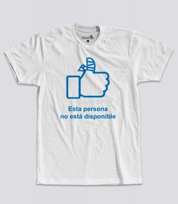 Camiseta No disponible Blanca