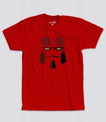 Camiseta Hellboy roja