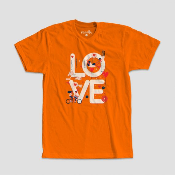Camiseta Love Naranja