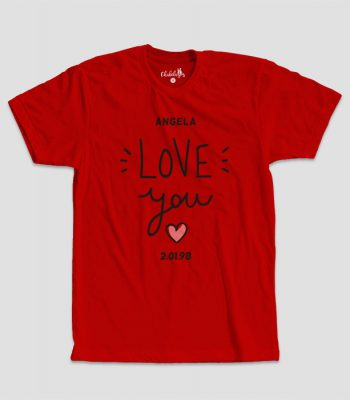 Camiseta Love You Roja