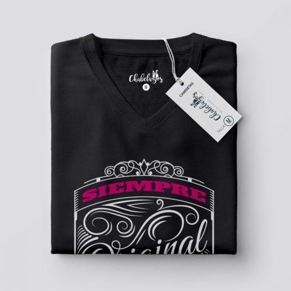 Camiseta Siempre Original doblada V