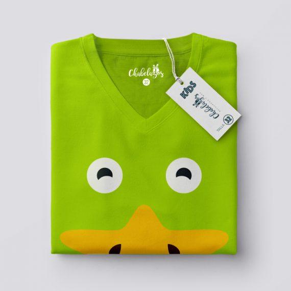 Camiseta Patito Verde doblada V