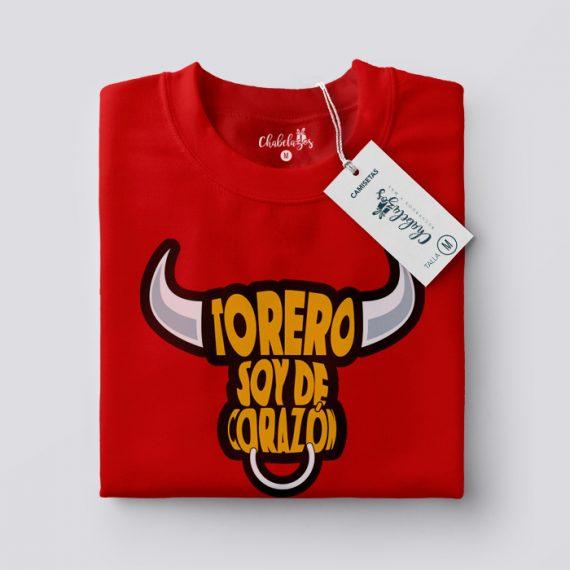 Camiseta Torero Soy Roja doblada