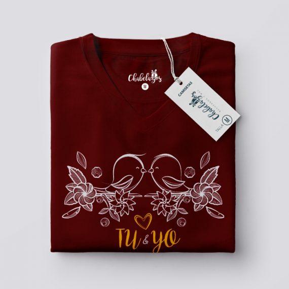 Camiseta Tu y Yo Conchevino Doblada V